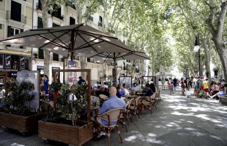 Der Passeig d'es Born in Palma de Mallorca.