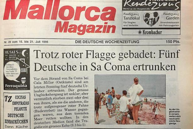 In Ausgabe 29/1995 berichtete MM von dem tragischen Unglück an Mallorcas Ostküste.