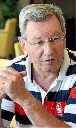 Bayern-Präsident Hopfner ist häufig auf Mallorca.
