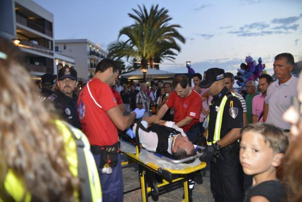Der Reiter wurde zur Beobachtung ins Krankenhaus Son Espases auf Mallorca gebracht.