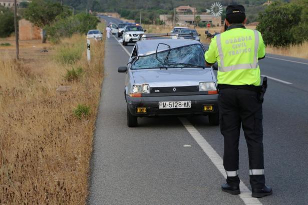Der jüngste Unfall zwischen Llucmajor und Campos im Süden Mallorcas.