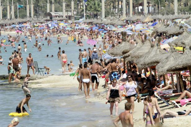 Gut gefüllt präsentieren sich dieser Tage die Mallorca-Playas.
