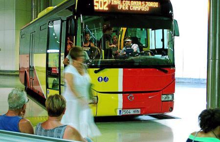 Der Busbahnhof befindet sich in Palma unter der Plaça d'Espanya