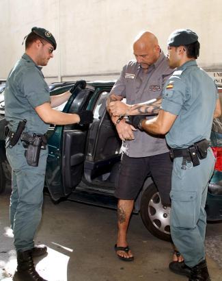 Frank Hanebuth nach seiner Verhaftung im Juli 2013.