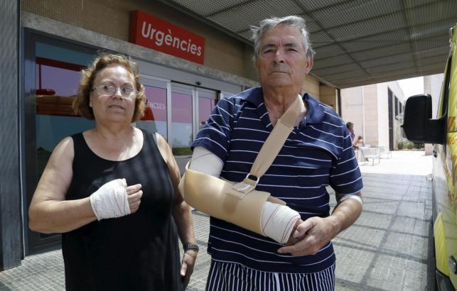 María de los Ángeles Mena y Rafael Ruiz wurden von Urlaubern verletzt
