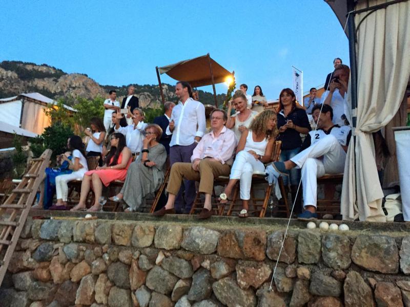 Prominente Zuschauer beim Polo Cup