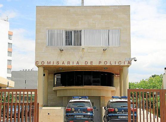 Die Wache der Nationalpolizei an der Playa de Palma.
