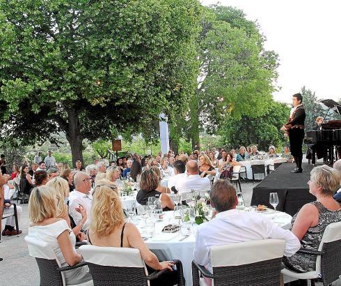 Beim letzten Musikevent im Castell Son Claret auf Mallorca.