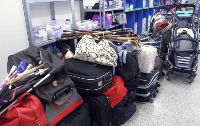 Das Lages des Fundbüros am Flughafen von Palma.
