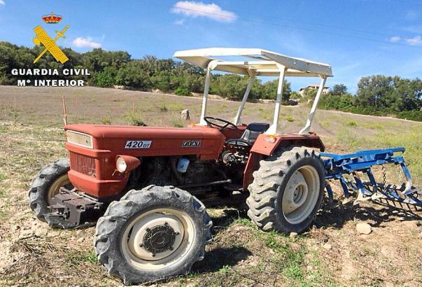 Der auf Mallorca sichergestellte Traktor.