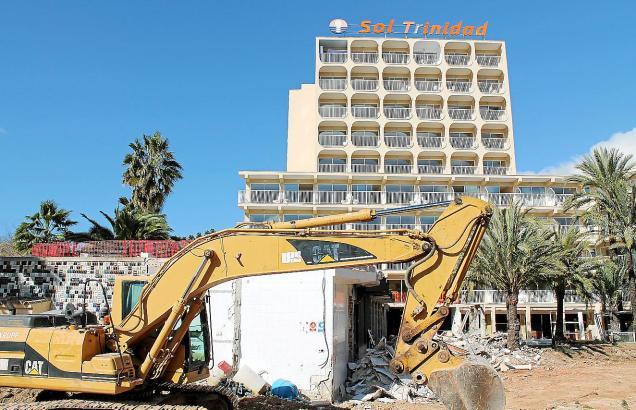 Im Februar wurde in Magaluf bei der Sanierung von Hotels und Straßen reichlich gewerkelt.