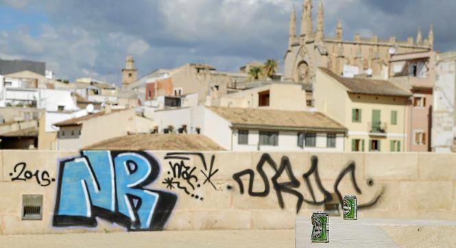 Wandermalereien verschwandeln Palmas historische Stadtmauer