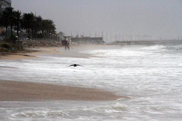 Bei aufgewühlter See vor Mallorca raten Rettungsschwimmer vom Baden ab.