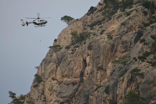 Per Hubschrauber musste der Wanderer gerettet werden