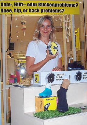 Im Oktober bediente Shop-Managerin Leonie de Groot die Kunden in Peguera. Anschließend wird sie in der Inselhauptstadt in der Av
