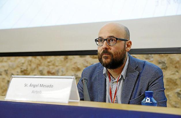 Ángel Mesado sprach als Vertreter des US-Unternehmens Airbnb in Palma