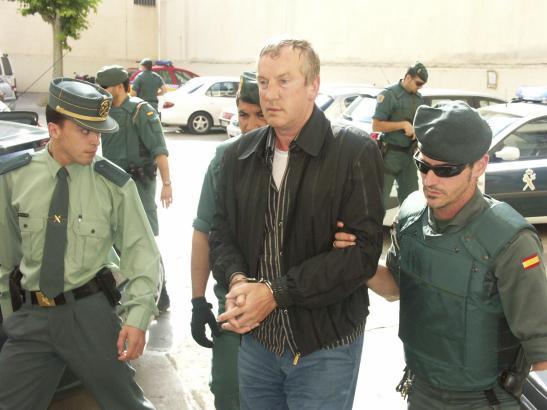 Gennadios Petrov bei seiner Festnahme 2008 in seiner Residenz in Sol de Mallorca (Calvià).