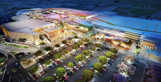 Die Animation zeigt, wie das geplante Einkaufszentrum S'Estada von Juni 2016 an aussehen soll.