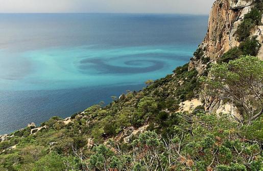Spektakuläres Bild von dem Meeresphänomen, das auf Mallorcas Schwesterinsel Ibiza aufgenommen wurde.