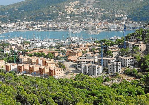 Blick auf den Küstenabschnitt von Montport in Port d'Andratx.