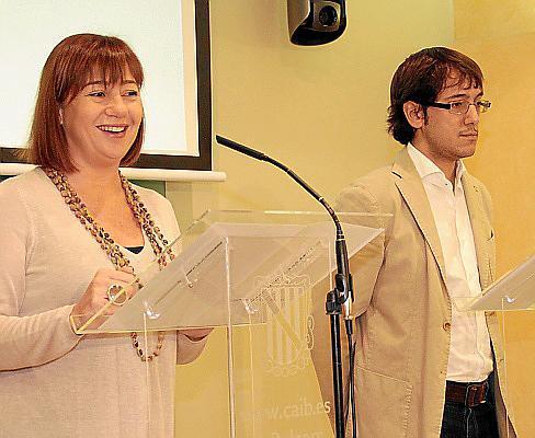 Zufrieden mit der Aktion: Ministerpräsidentin Francina Armengol und Arbeitsminister Iago Negueruela stellten die Ergebnisse der