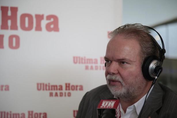 Utz Claassen während seines Radio-Interviews.