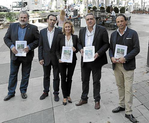 Lobby für den Borne: Bernat Coll, Jorge Dezcallar, Carolina Domingo, Alfonso Robledo und Juan Miguel Ferrer präsentieren ein neu