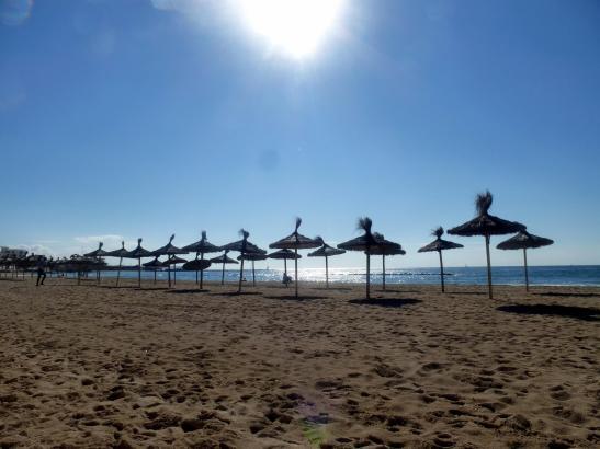 So wie am Sonntag geht es mit dem Wetter auf Mallorca auch in den kommenden Tagen weiter. Das Foto entstand am Strand von Ciutat
