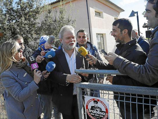 Der Trainingsbesuch von Real-Mallorca-Präsident Utz Claassen am Dienstag wurde von vielen Medienvertretern begleitet.