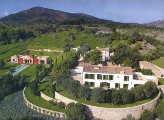 Das Anwesen von Boris Becker bei Artà auf Mallorca.
