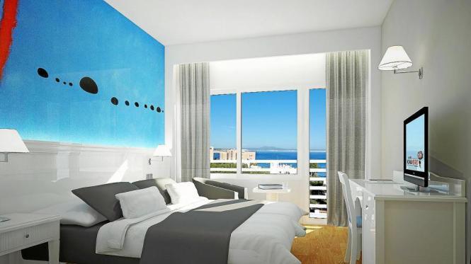 So sollen die Zimmer im neuen Miró-Hotel in Palma de Mallorca aussehen.