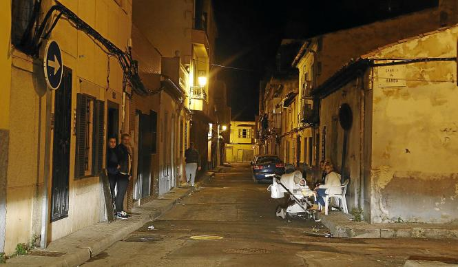 Die verrufene Calle Teix im Stadtteil La Soledat in Palma de Mallorca.