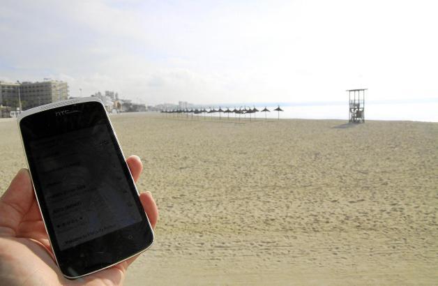 Seit einem Jahr haben Badegäste und Flaneure an der Playa de Palma kostenlosen WLAN-Zugang