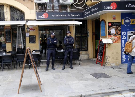 Razzia in Palma de Mallorca.