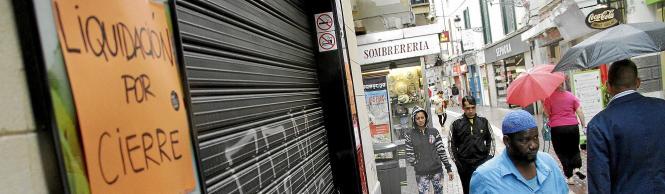 Viele Geschäfte auf den Balearen – wie hier in Palma de Mallorca – haben im Zuge der Krise schließen müssen.