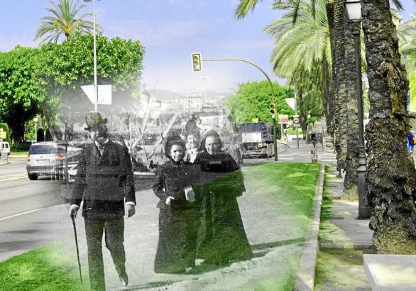 Mallorca damals und heute: Ähnlich wie auf dieser Fotomontage lassen die Texte von 50 bis 60 Jahren Reiseführer die Vergangenhei