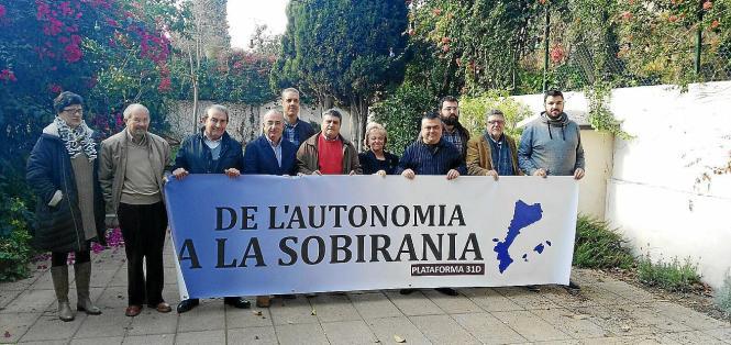 Die Vorbereitungen für die Unabhängigkeitsdemo auf Mallorca laufen bereits.