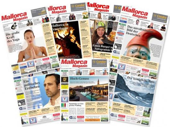 Eine Auswahl der Titelseiten des Mallorca Magazins aus dem Jahr 2015