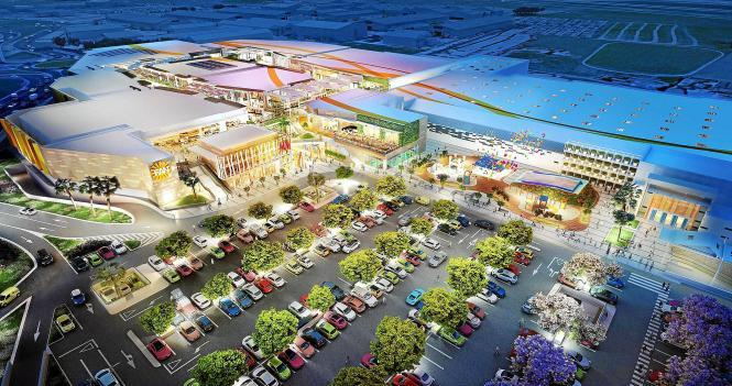 So soll es aussehen, wenn es voraussichtlich im Juni 2016 seine Pforten öffnet: Das Einkaufszentrum Fan Mallorca Shopping.