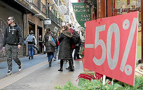 Der Einzelhandel in Palma de Mallorca beginnt bereits am Samstag, 2. Januar, mit dem Schlussverkauf.