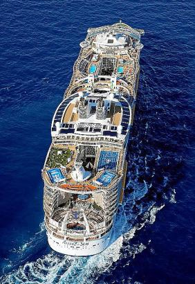 """Gigant der Meere in Palma: Im Mai 2015 kam die """"Allure of the Seas"""" erstmals in hiesige Gewässer."""