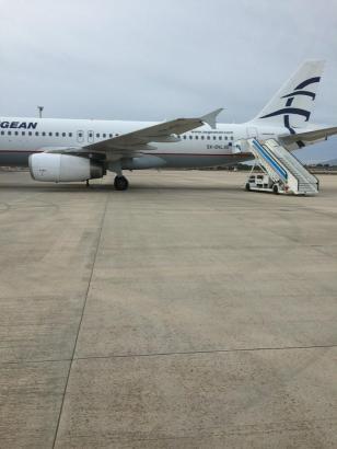 Das Flugzeug, das am Sonntagvormittag in Palma de Mallorca notlanden musste, wurde in einen Außenbereich des Flughafens Son Sant