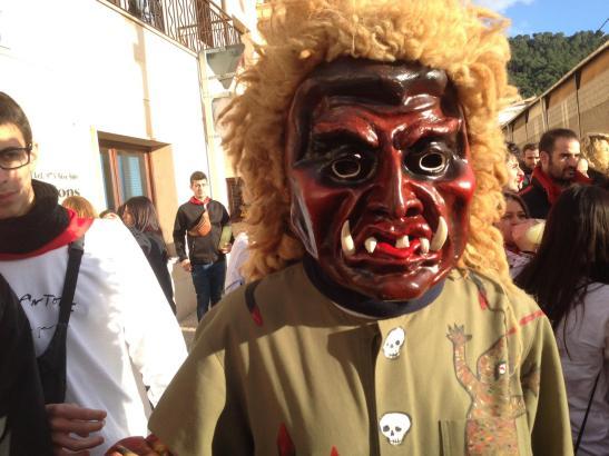 Die Dimonis beherrschen derzeit viele Dörfer von Mallorca, so wie jedes Jahr zur traditionellen Feier von Sant Antoni.
