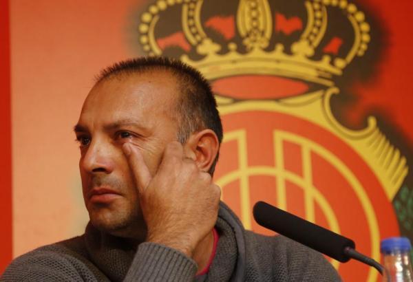 Abschied unter Tränen: Pepe Gálvez ist nicht mehr Trainer von Real Mallorca.