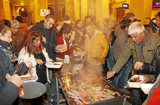 Beim Stadtfest in Palma de Mallorca.