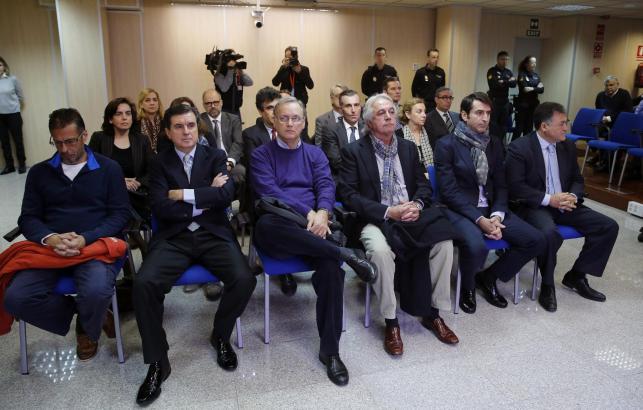 Die Angeklagten im Fall Nóos auf Mallorca.