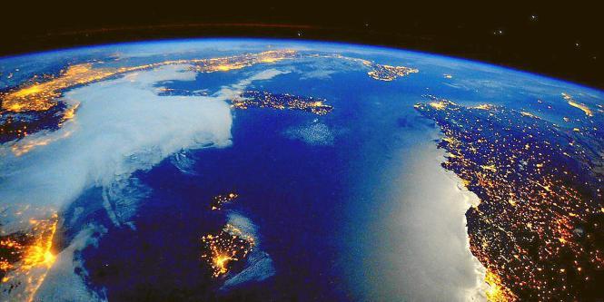 Die ruhige Wetterlage über Mallorca ist auf einem Weltraumbild dokumentiert.