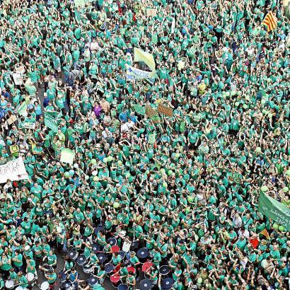 Gegen das Dreisprachenmodell TIL gingen im September 2013 in Palma Zehntausende auf die Straße.