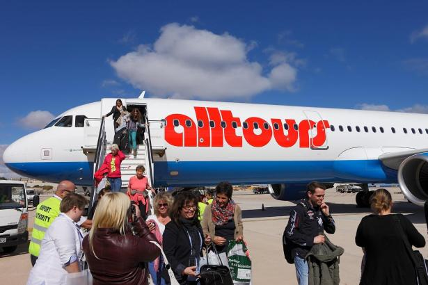 Der erste Alltours-Flug mit Germania landete 2011 auf Mallorca.
