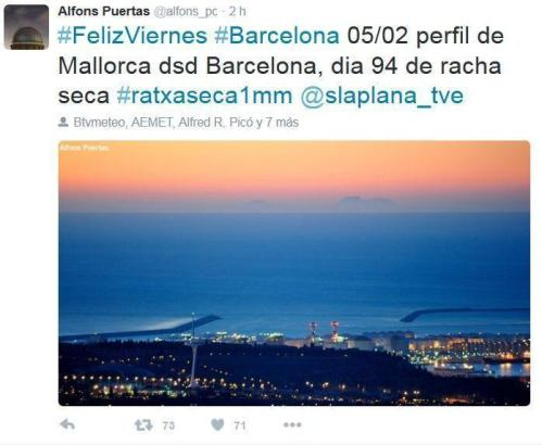 Das von Alfons Porta getwitterte Mallorca-Foto.